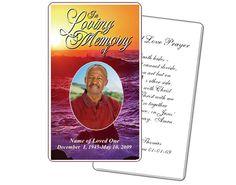 Memorial Service Prayer Card: Twilight Prayer Card Printable Templates