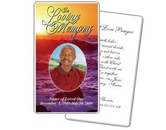 Memorial Service Prayer Card: Twilight Prayer Card Printable Templates