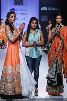 Designer Ritika Mirchandani on Day 6 of the Lakme Fashion Week (LFW) Winter/Festive 2013, held at Grand Hyatt, Mumbai, on August 27, 2013.