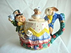 Alice in Wonderland Mad Hatter Teapot by Fitz and by flyingvalise,