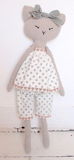 Cat Handmade Doll handmade stuffed animal stuffed toy