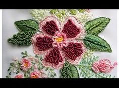 brazilian embroidery for beginners Brazilian Embroidery Stitches, Hand Embroidery Videos, Simple Embroidery, Types Of Embroidery, Learn Embroidery, Rose Embroidery, Embroidery For Beginners, Hand Embroidery Patterns, Embroidery Techniques