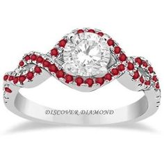 1848df82a37f 2.50 Ct ROUND RED RUBY SOLITAIRE SOLID 14 K WHITE GOLD ENGAGEMENT RING   DiscoverDiamond