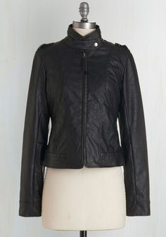 What Motors Most Jacket in Noir. A call saying your friend is spontaneously in town has you rushing into this Jack by BB Dakota moto jacket! #black #modcloth