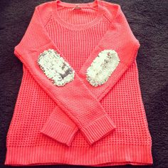 Sequined Elbow Patch Sweater
