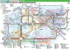 Public Transit Map of the Ruhr Metro Map, Paris Metro, Rapid Transit, S Bahn, Corporate Identity Design, Nyc Subway, Rolling Stock, London Underground, Cards