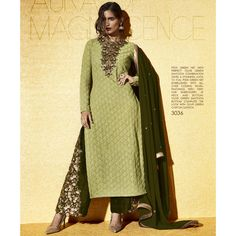 Pista Green Net With All Over Coding Work Indo-Western Plazzo Salwar Suit at Lalgulal.com. To Order :- http://goo.gl/EvLBx8 To Order you Call or Whatsapp us on +91-95121-50402. COD & Free Shipping Available only in India.