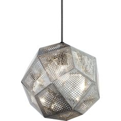 Tom Dixon Etch Steel Pendant ($550) ❤ liked on Polyvore featuring home, lighting, ceiling lights, decor, lamps, tom dixon lighting, steel lamp shade, industrial lighting, tom dixon lamp and tom dixon