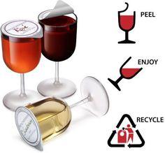For The Lushes: Single-Serve Wine Glasses Single Serve Wine, Cheers, Wine Packaging, Packaging Design, Wine Bottle Holders, In Vino Veritas, Wine Time, Food Design, Alcoholic Drinks