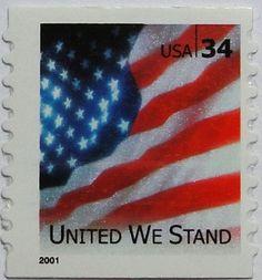"2001 34c ""United We Stand"" Special Issue Scott 3550 Mint F/VF NH  www.saratogatrading.com"