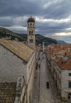 Croatia Stradun Dubrovnik, San Francisco Ferry, Croatia, Travel Tips, Building, Sunrise, Old Town, Travel Advice, Buildings