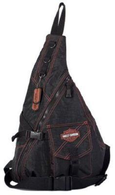 Harley-Davidson� Women's Rally Sling Bag Purse. Crinkle Nylon. Embroidery. Embossed Dog Tags. RL7231S $54.95