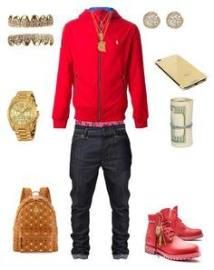 """""""((School Flow)) ~Dre Savage"""" by leonar-287 ❤ liked on Polyvore featuring interior, interiors, interior design, home, home decor, interior decorating, Dsquared2, Polo Ralph Lauren, Timberland and Goldgenie"""