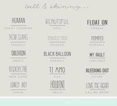 Tall & Skinny Fonts