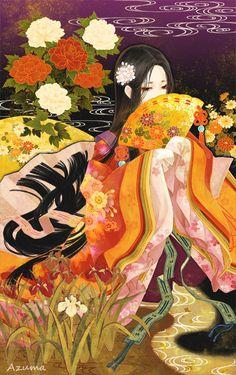Tags: anime, pixiv id junihitoe, pixiv. Anime Kimono, Manga Anime, Japanese Painting, Chinese Painting, Japan Art, Japanese Aesthetic, Anime Art Girl, Chinese Art, Illustrations Posters