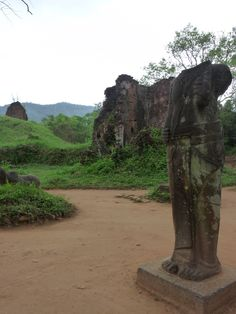 #Champa sculpture and ruins at #MySon, #Vietnam