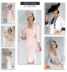 Dress Code by Veromia Mother of the Bride Wedding outfits spring summer 2015 collection pale pink, lilac, cream, ivory and black