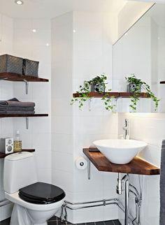 49 Captivating Small Bathroom Remodel Ideas For Space Saving bathroom Small Half Bathrooms, Tiny Bathrooms, Steam Showers Bathroom, Bathroom Design Small, Bathroom Designs, Bathroom Ideas, Bathroom Mirrors, Wall Mirrors, Bathroom Shelves
