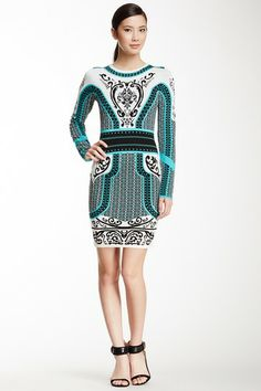 Briella Long Sleeve Jacquard Print Dress by Cynthia Steffe on @HauteLook
