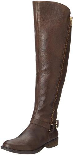 Steve Madden Women's Skippur Brown Leather Knee-High Leather Boot - 8.5M