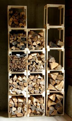 Stapelbar vedhämtare/vedkorg Outdoor Firewood Rack, Box Architecture, Get Off The Grid, Small Kitchen Storage, Wood Logs, Wood Storage, Perfect Place, Basement, Garage