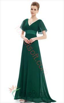 Detayları Göster Kısa Kollu Uzun Abiye Elbise M-0330