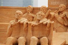 Sand sculpture in Barcelona