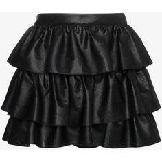 Stella Mccartney Tiered Ruffle Mini Skirt (2 470 PLN) ❤ liked on Polyvore featuring skirts, mini skirts, black, high-waisted skirt, 80s skirts, short skirts and high waisted short skirts