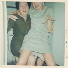 Inez & Minnie went everywhere together, including the loo.