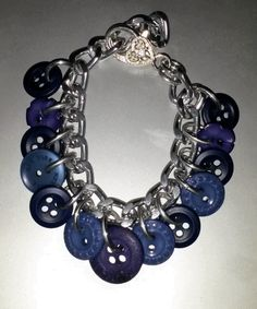 February 24th: Blue buttons bracelet