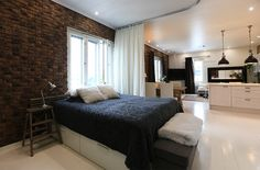 Studio apartment bedroom corner