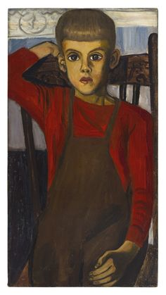 Alice Neel, Richard at Age 5, 1945, oil on canvas. Copyright Estate of ...