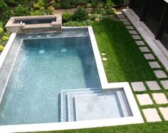 I like this entry into a pool.