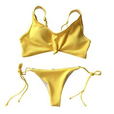 f72a6e2092f8a Ladies Women Sexy Beach Halter Bikini Set Swimsuit Two Piece Swimwear  Separates Retro Elastic Solid Color
