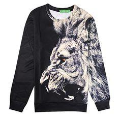 Nova Moda 2016 Homens suor tigre/leão animal 3d imprimir Moletons casual Swearshirts hoodies do velo das mulheres de Manga Longa sw78(China (Mainland))