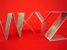 Metal letters freestanding/Initials/Alphabet A-Z by gaugenyc