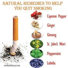 Natural remedies to help quit smoking.