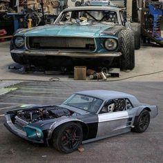 Vintage racer mustang