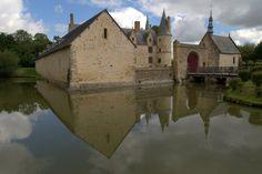 LE BOIS ORCAN, Haute-cour, Château des XIVe et XVe siècles, ensemble classé aux titres des Monuments Historiques