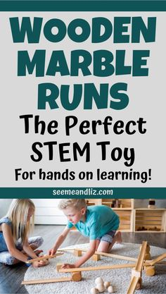 Wooden marble runs are one of the best STEM toys for kids.  They are the perfect brain building toy for preschoolers and school aged children.  Plus, find out what makes them a better alternative to most plastic marble runs! Preschool Learning Toys, Educational Activities For Kids, Play Based Learning, Hands On Learning, Learning Through Play, Stem Activities, Learning Activities, Kids Learning, Marble Runs