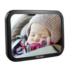 Tr�sutopia Appleye Baby-Autospiegel mit 360� einstellbarem Winkel f�r r�ckw�rtsgerichtete Kindersitze, Bruchsicherer Acrylreflektor, Anti-Nebel, Weitwinkelreflexion, 26 cm * 17.5 cm