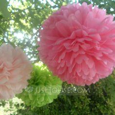 "[US$ 6.89] 9 4/9""(24cm) Elegant/Ball Shaped Paper Flower (set of 4) (More Colors) (131038152)"