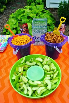 I love the Orange!!!! Living With Color Designs: Summer Birthday Splash Party