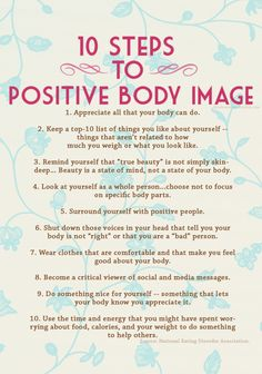 Always Have  a Positive Body Image.