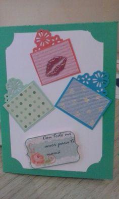 para acompañar el regalo de mamá, una linda tarjeta