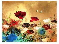 CanvasPrint, the Blooming Poppies - HugeCanvasPrint, StretchedandFramed, ModernCanvasWallArtforHomeDecoration, Floral Canvas Art, Paintings Style FL1-10075 Wieco Art http://www.amazon.com/dp/B00L41536A/ref=cm_sw_r_pi_dp_Q-7Vub1PN9Q22
