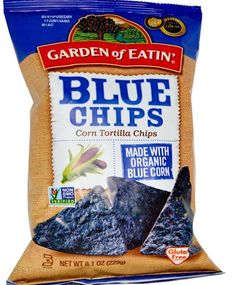Blue Corn Tortilla Chips 8.1 oz (229 g) Bag Pack Snack Food Kosher Gluten Free #gardenofeatin