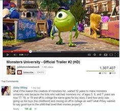 Proper Pixar Goodbyes: Mind Blown, Stuff, Monsters Inc, Movies, Funny, Disney Pixar, So True, Monster University