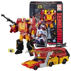 Year 2017 Transformers Generations Power of the Primes Series Leader Class 10 Inch Tall Figure - Evolution RODIMUS PRIME with Blaster, Matrix of Leadership and Collector Card Transformers Autobots, Transformers Action Figures, Transformers Toys, Transformers Collection, Collector Cards, Thundercats, Optimus Prime, Evolution, Pokemon