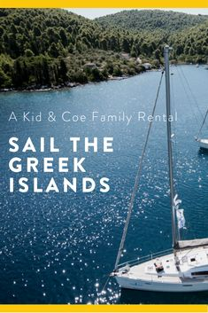 This all-inclusive family sailing trip sets sail from Skiathos around the bays and ports of the Sporades Islands for 7 nights, with a unique kids club included. This boat sleeps up to with speci. Greek Islands Map, Greek Islands Vacation, Greece Vacation, Greece Islands, Greece Travel, Greek Island Hopping, Skiathos, Sailing Trips, Bays